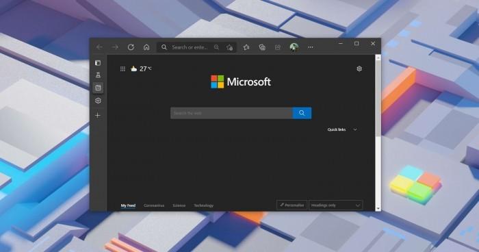 Microsoft Edge现在允许在没有标题栏的情况下垂直堆叠标签