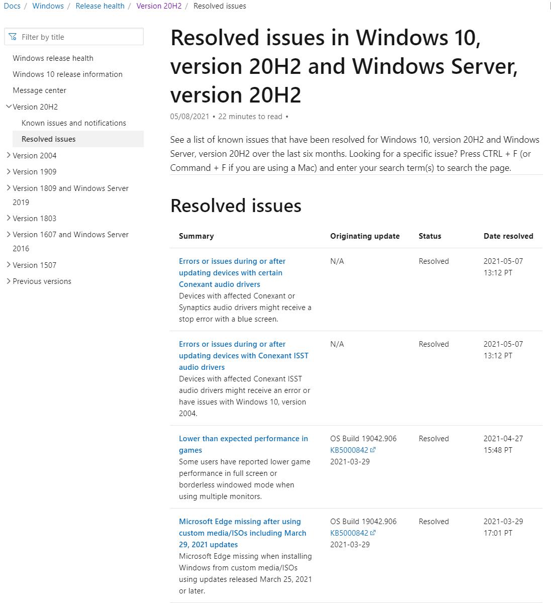 微软修复故障,解决系统无法升级至 Win10 2004、20H2 的 Bug