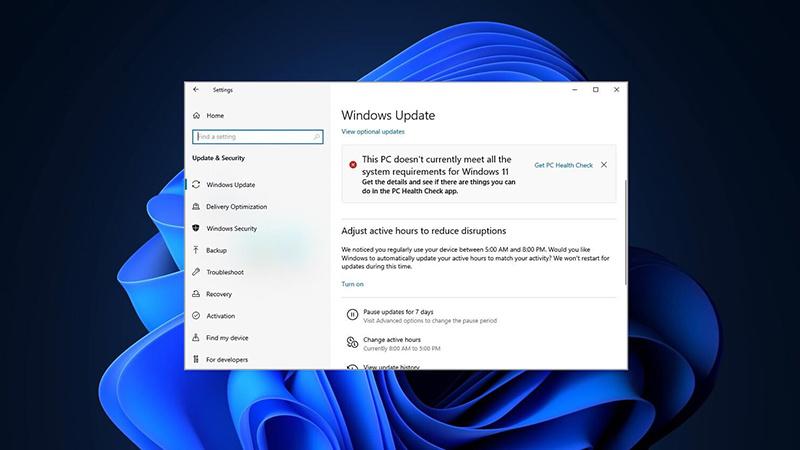 """微软确认""""这台电脑无法运行Windows 11""""报错有时会错误弹出"""