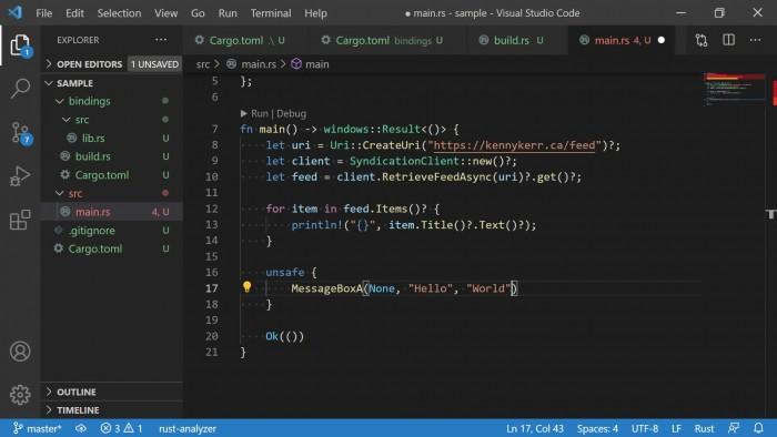 微软宣布Rust for Windows v0.9:全面支持Windows API