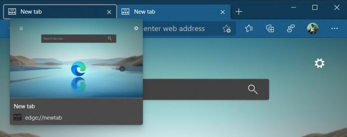 微软Edge即将在7月获得经典版的标签预览特性
