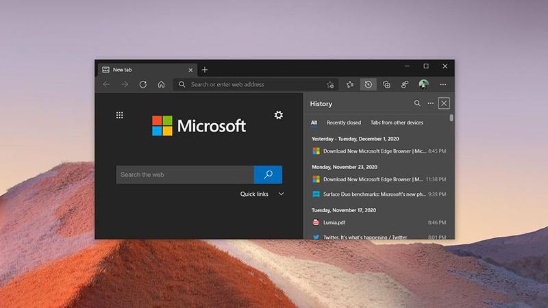 Edge浏览器新增迷你右键菜单 内置在线词典 优化密码监控