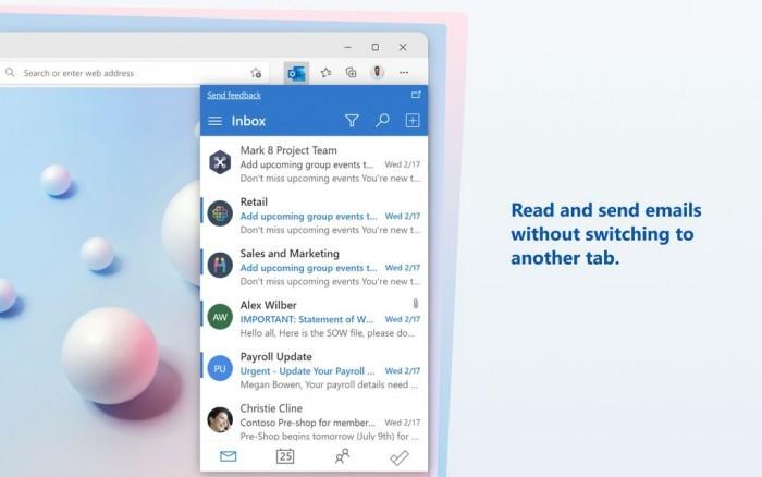 Microsoft Edge扩展程序Microsoft Outlook发布