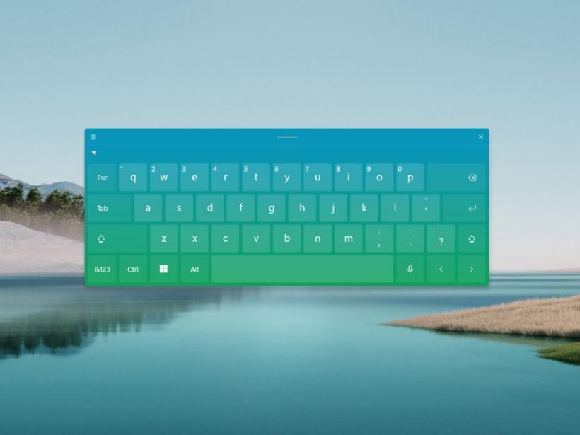 微软 Win11 启用内置触摸键盘体验:支持调节大小,多彩颜色和主题定制