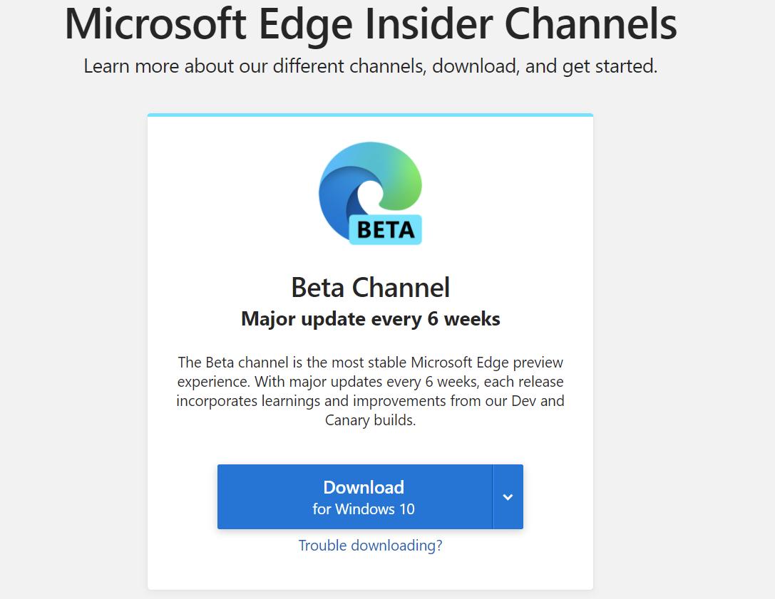微软 Edge 浏览器 Beta 版登陆 Linux