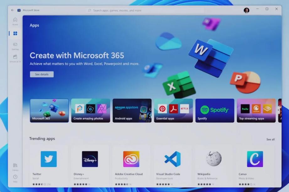 Win11 商店可以下载 Win32 应用,但无法提供更新服务