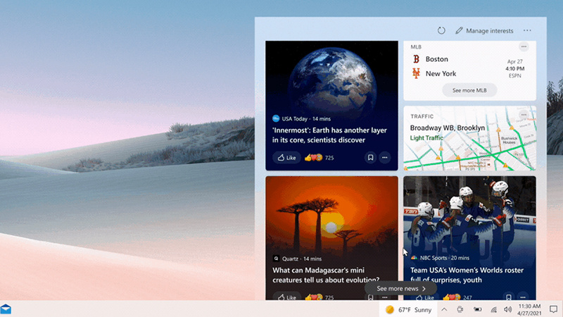 Win10 v1909获可选更新:新增新闻和兴趣功能
