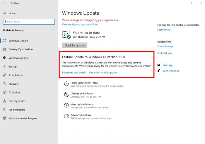 Windows 10 v21H1发布后的首个更新上线 包含大量的修复内容