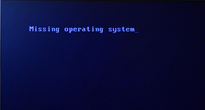电脑开机显示 missing operating system 怎么解决!